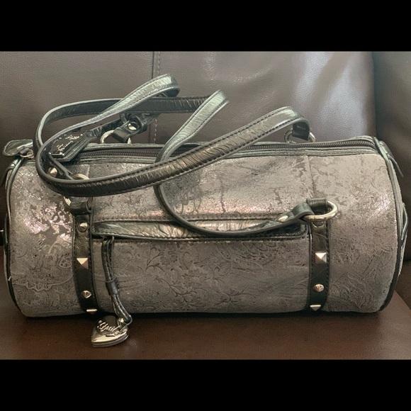 Sharif silver metallic purse